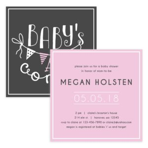 Girl baby shower invite template