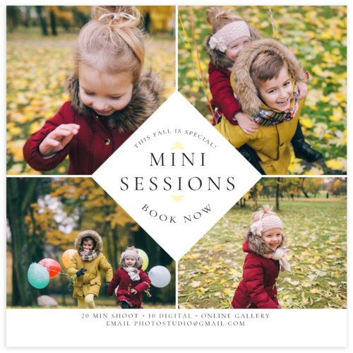 fall mini sessions marketing board