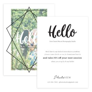 Photographer Post Card Template