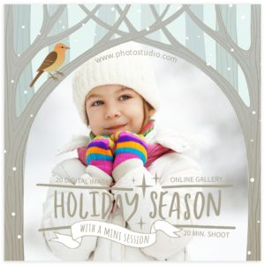 holiday marketing template for photographers