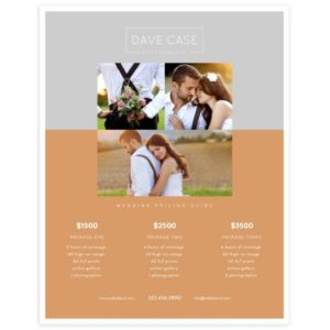 Photography Price Guide Template