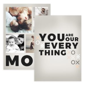 Modern Mother's Day Card Template for Photographers