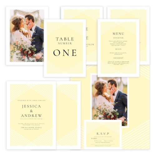 Yellow Wedding Suite PSD Template for Photographers