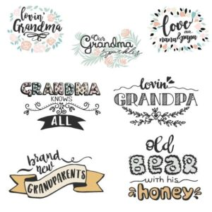 Grandparents Word Art overlays for photos