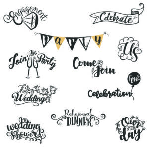 Wedding Word Art for designs