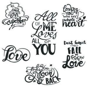 Love & Romance Valentine Word Art Overlays