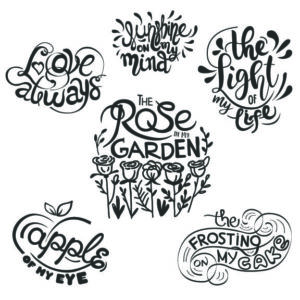 Love Word Art overlays for designs