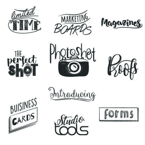 Photography Word Art overlays for photographers