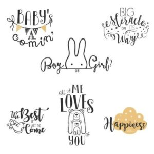 Maternity word art overlays for creative projects