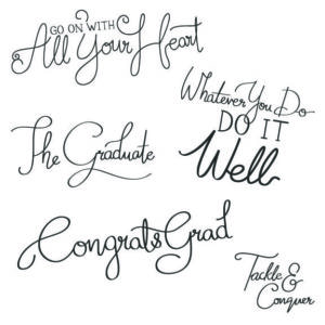 senior grad word art overlays for photos