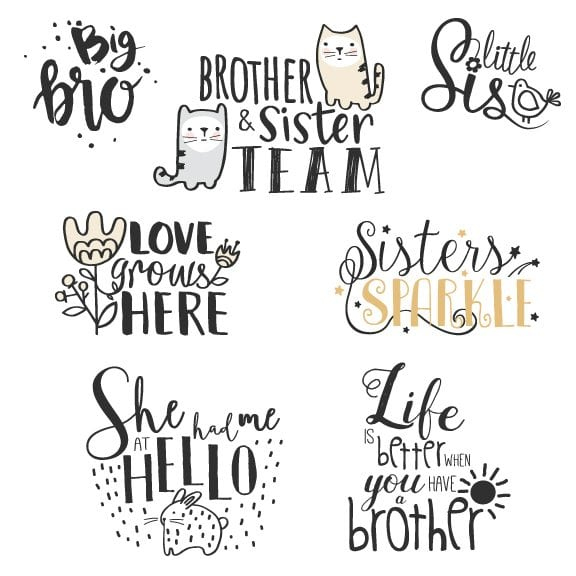 Siblings Word Art for photos