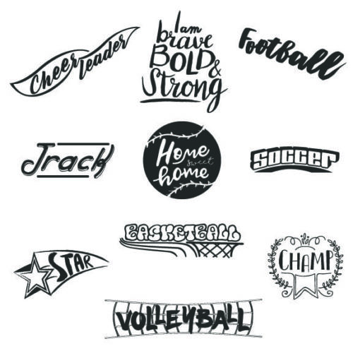 Sports word art overlays for sports photographers and creative designers