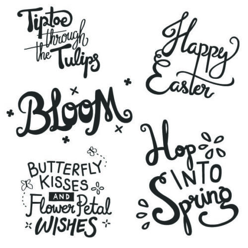 Spring Word Art Overlays for Photographers