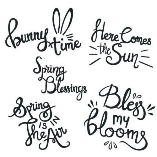 Spring Word Art Overlays for photos