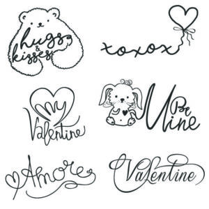 Valentines day word art overlays