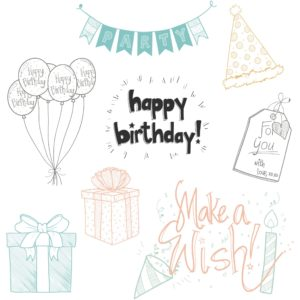 Birthday Elements PNG Clipart