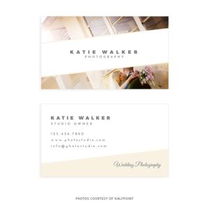 Modern and Clean Photographer Business Card Template