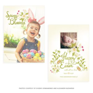 Spring Card Template