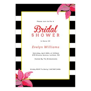 Modern Colors Bridal Shower Invitation Templates for Photographers