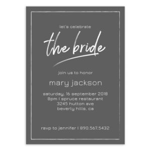 bridal shower psd template diy