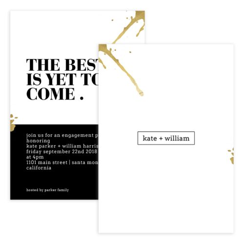 Photoshop Engagement party template