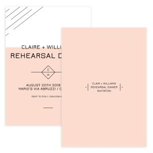 Clean rehearsal dinner invite template