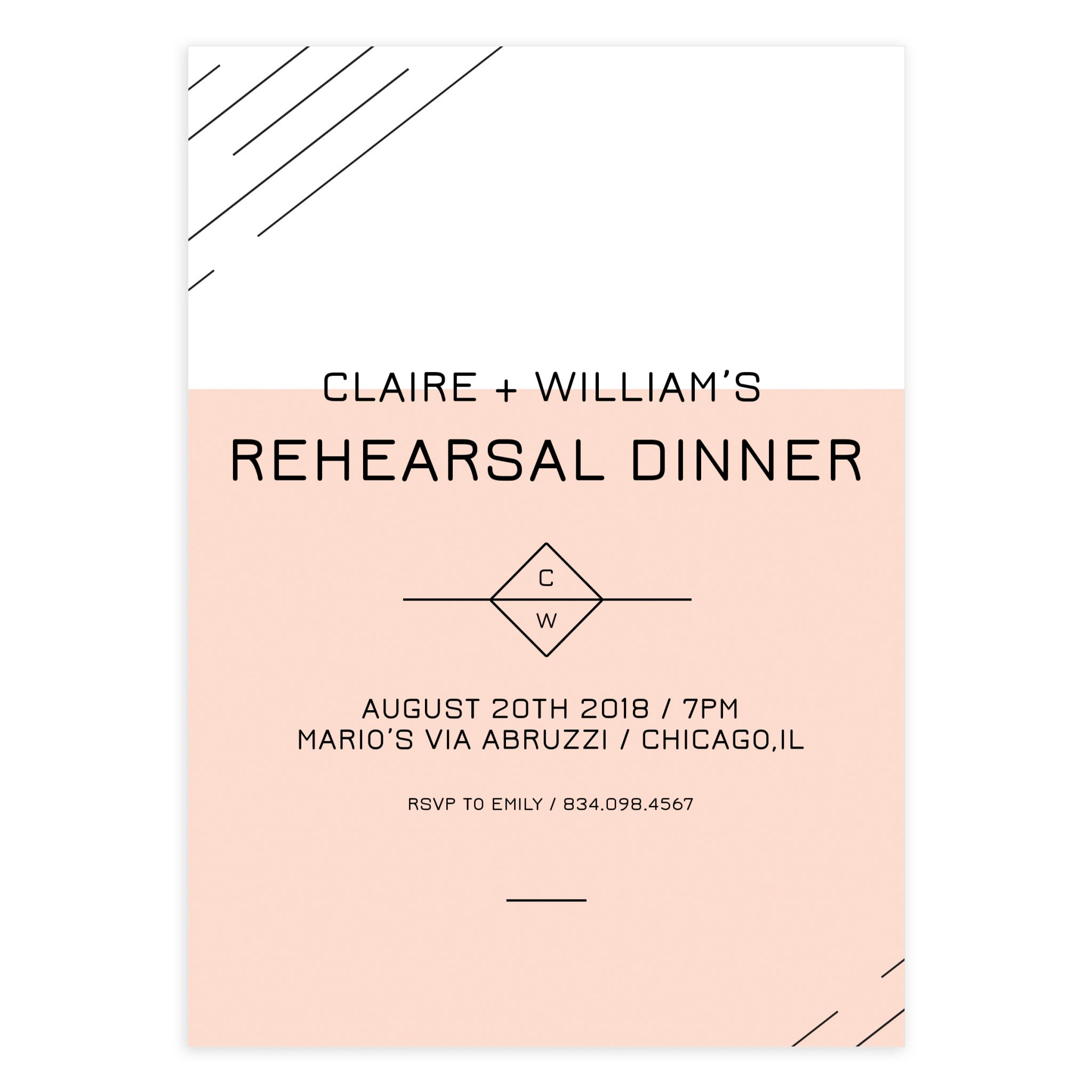 Wedding Rehearsal Invitation Template PSD