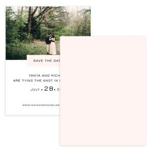 Getting Married Save The Date Card