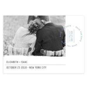 Simple Stamp Save the Date Template Design for Photographers