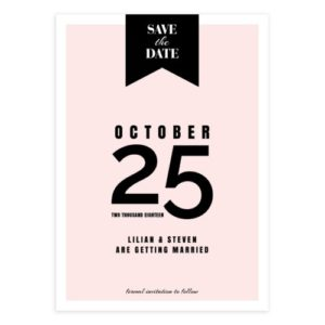 Pink Save the Date Template for Photoshop