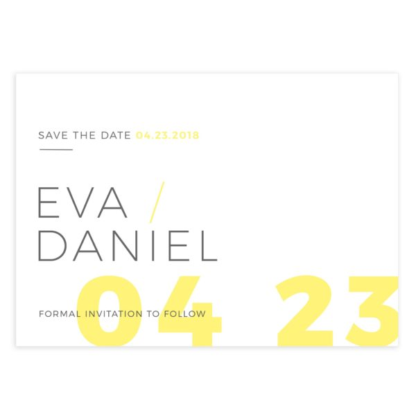 Modern style save the date template