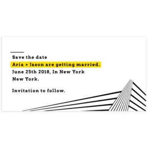 Modern Minimal Save the Date Template