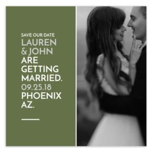 Green Simple Save the date template