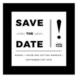 Save the Date Template in PSD format