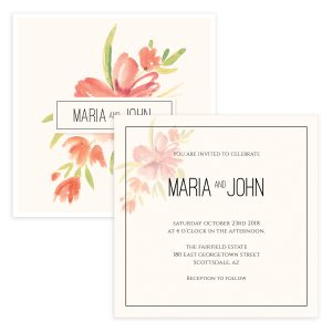 Floral Wedding Invite template