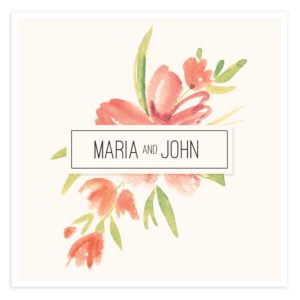 Floral Photoshop Wedding Invitation Template