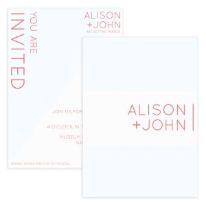 Typography Wedding Invitation