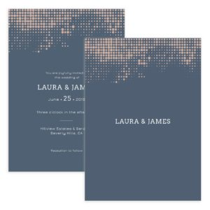 modern wedding invite photoshop template