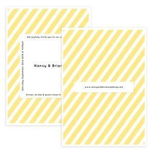 Yellow Wedding Invite Template