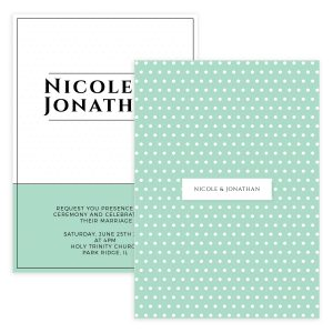 Green Modern Wedding Invite Template