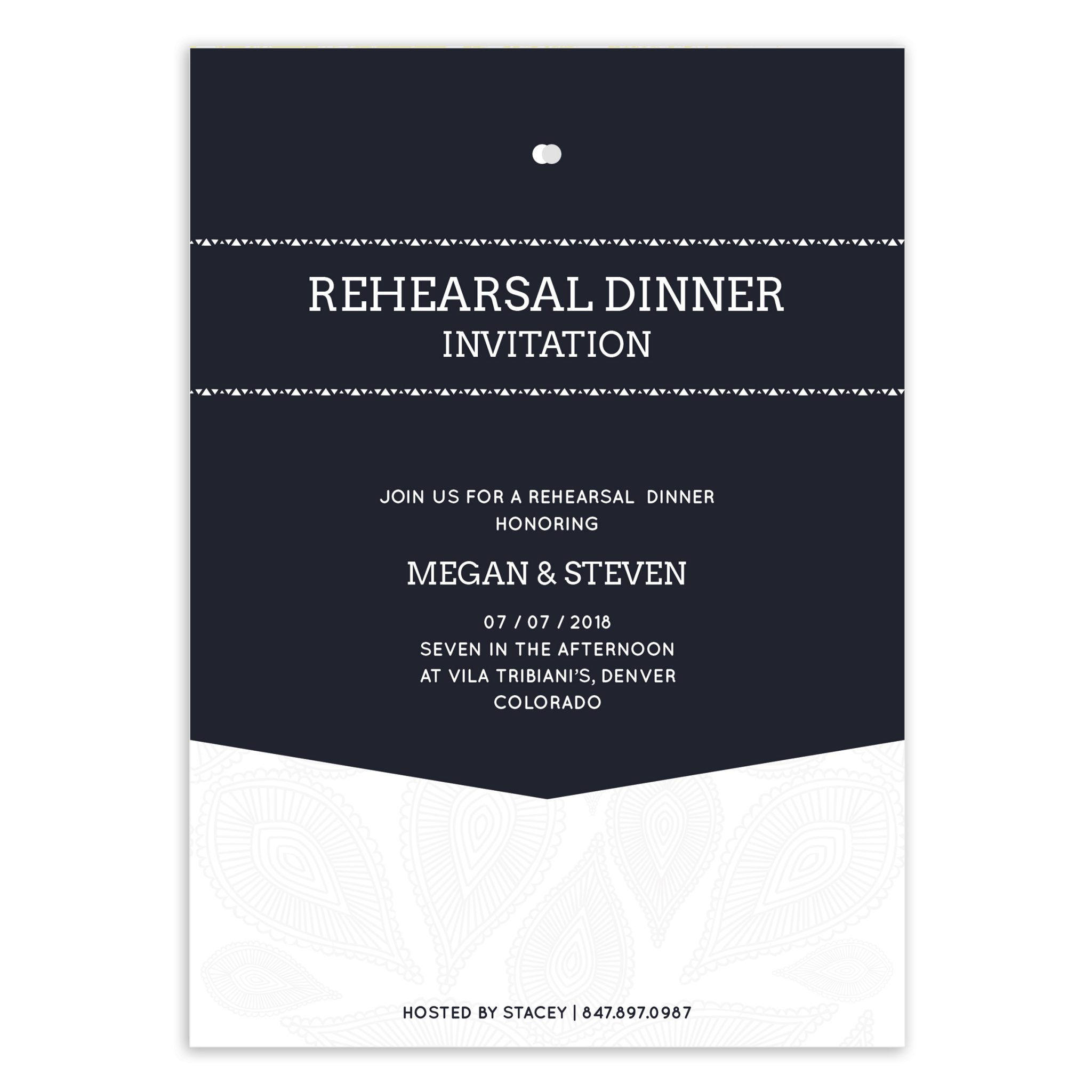 Wedding Rehearsal Invitation PSD Template