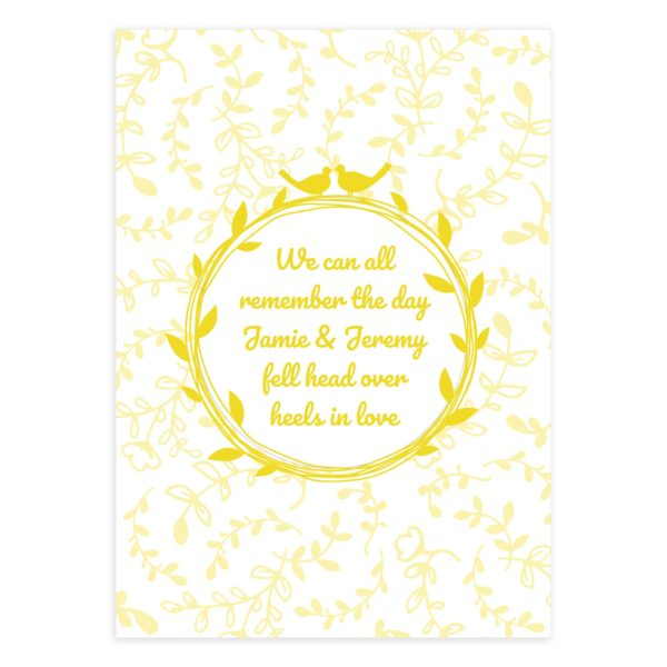 Yellow Bridal Shower Invitation Template