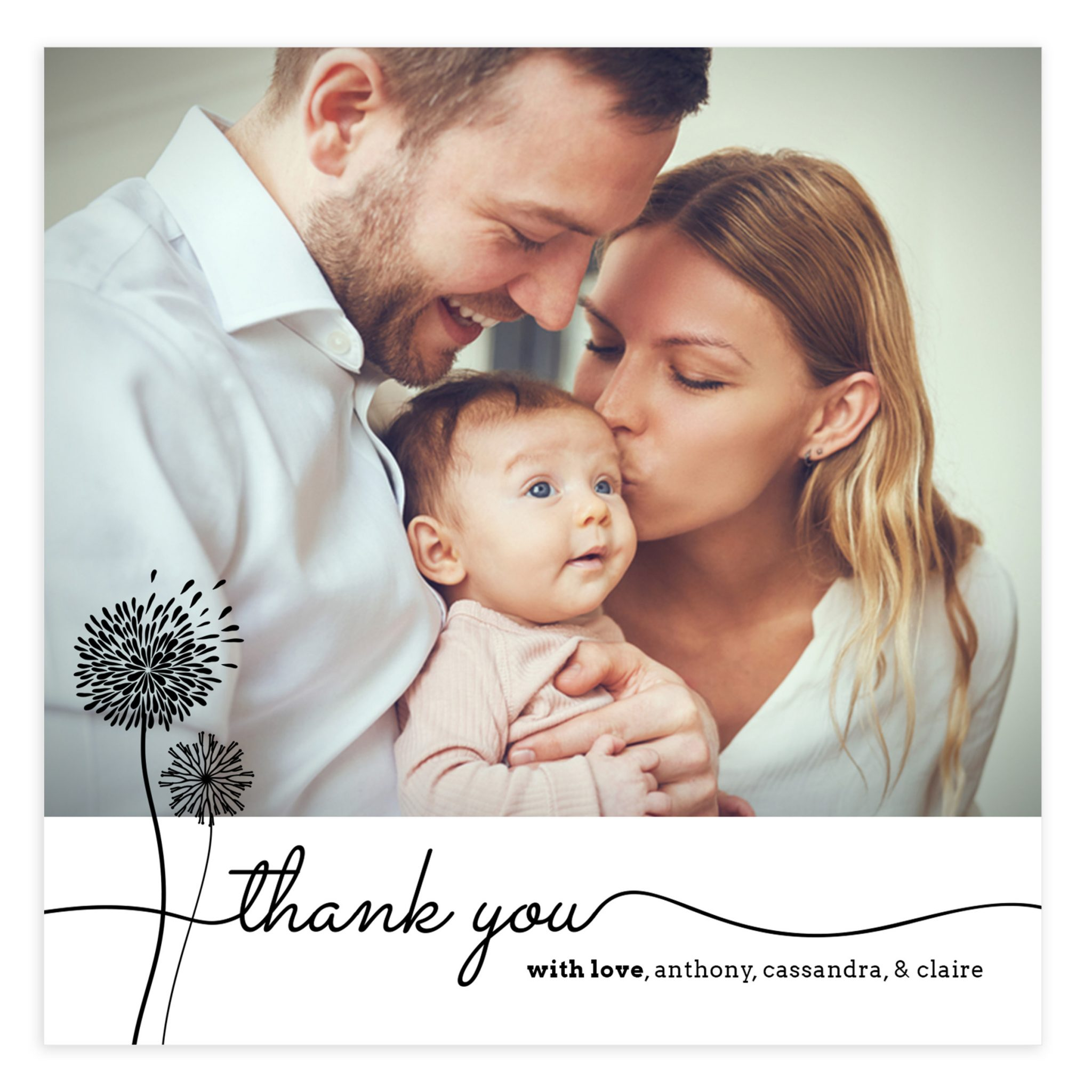 Newborn Thank You Photoshop Template