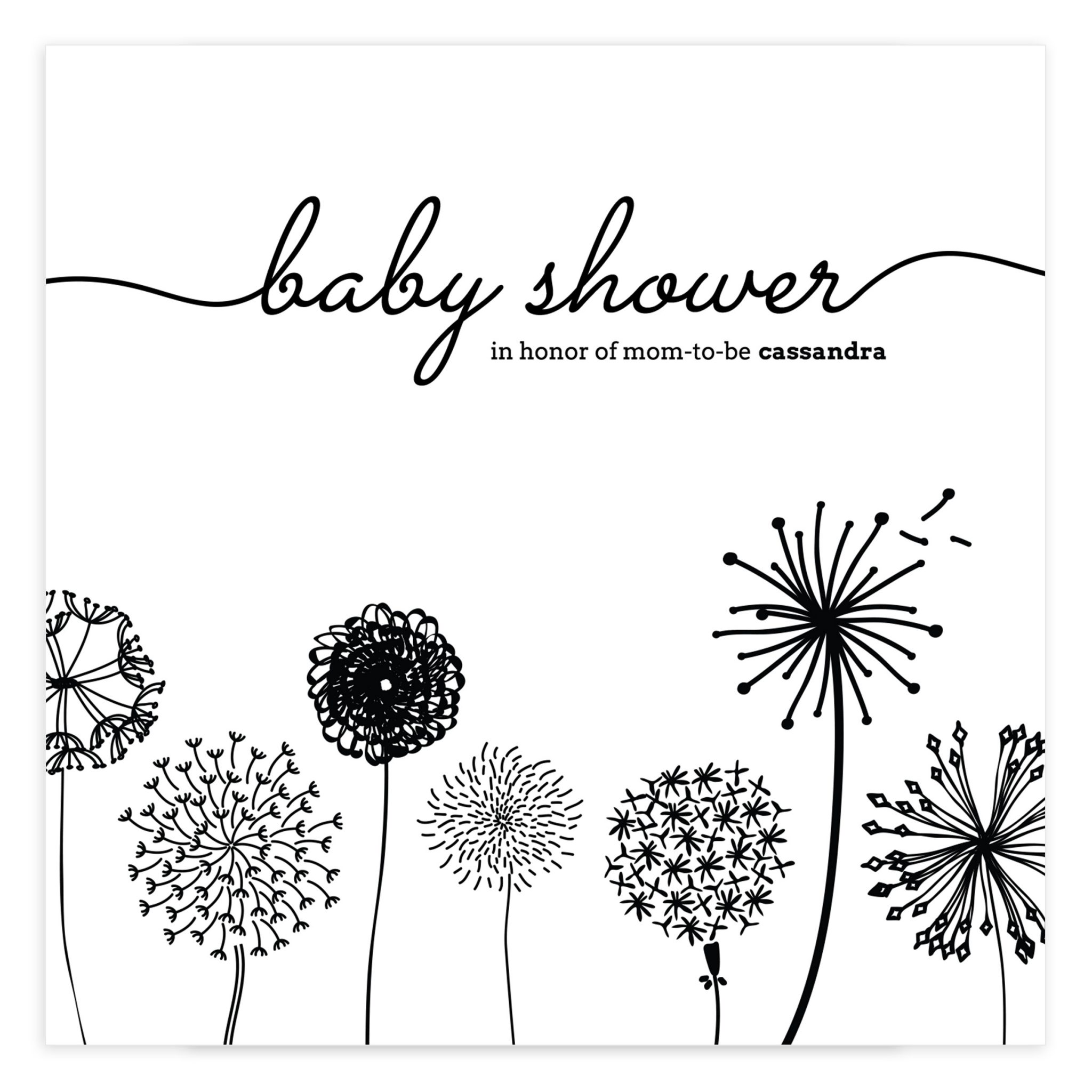 Baby Shower PSD Template