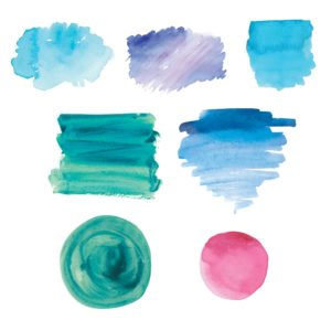 watercolor badge icons for diy marketing designs