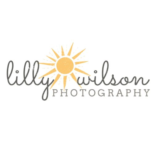 Editable photographer logo template in PSD format