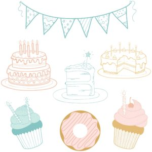 Birthday PNG Elements for Design