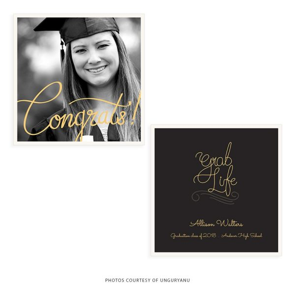 graduate announcement photoshop template for photography