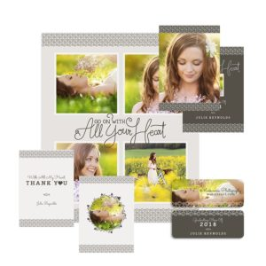 senior photography graduate bundle of photoshop templates
