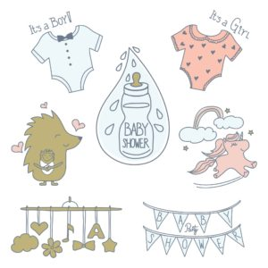 Newborn Baby Shower Elements